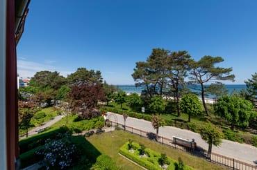 ... einen traumhaften Meerblick aus dem 2.OG der Strandvilla Quisisana.