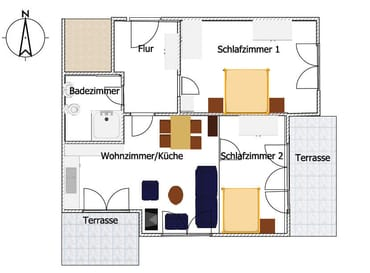 Grundriss Wohnung Marinea