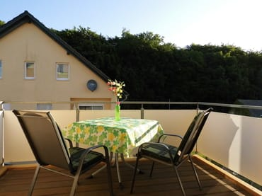 Balkon mit Morgensonne