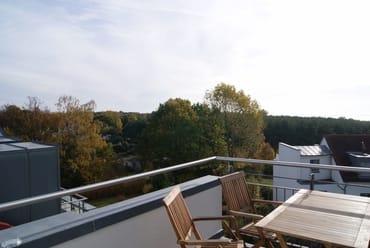 die linke Dachterrasse