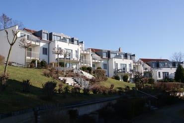 """die """"Residenz Bellevue"""" seitlich betrachtet"""