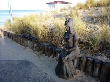 Zugang zum Ostseestrand in Zempin