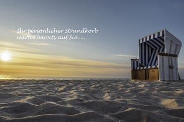 I-Tüpfelchen: Zum weißen Sandstrand sind es nur 50m – dort erwartet Sie ein eigener Strandkorb von Mai bis September.