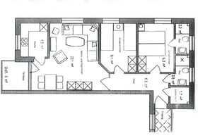 Raumaufteilung Wohnung 1 mit Terrasse