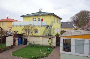 Die Ferienwohnung im Obergeschoß mit Terrasse