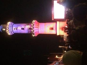 Leuchturm in Flammen