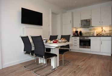 Wohnküche mit separatem Eßplatz
