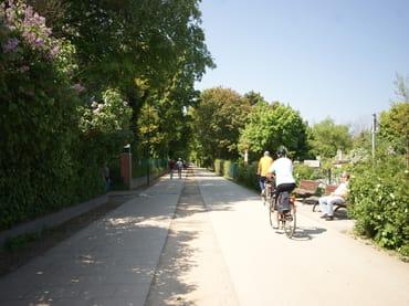 Fahrradweg auf der Strandpromenade