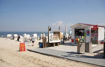 von Mai bis September gehört zur FeWo ein eigener Strandkorb