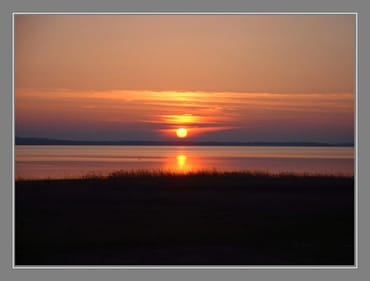 Sonnenuntergang - Blick von der Terasse