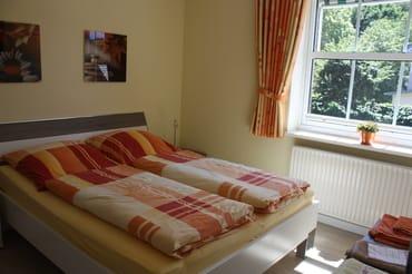 Das helle Schlafzimmer für 2 Personen