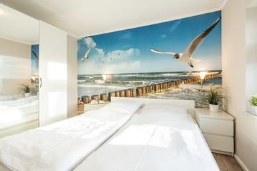 ... während im zweiten Schlafzimmer ein bequemes Doppelbett zur Nachtruhe auf Sie wartet.