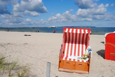 kostenfreier eigener Strandkorb am Strand