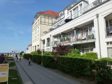 Blick auf Appartment 1.18 auf Westseite im Haus Meeresblick