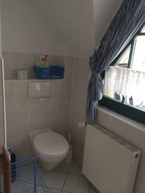 Das Bad im OG mit WC...