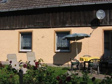 Terrasse an der Fewo