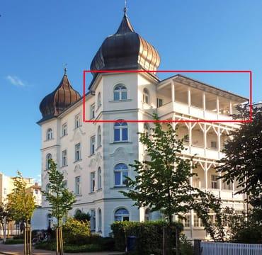 3. Etage (mit Aufzug!) mit großen West-Balkon (nicht einsehbar!)