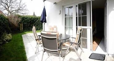 Unsere gemütliche, nicht einsehbare Terrasse lädt zum entspannten Verweilen ein