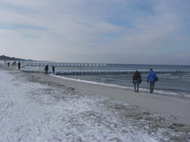Winter am Strand Zingst