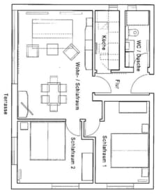Grundriss der Wohnung W14