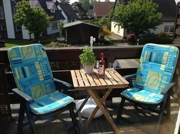 Balkon mit separater Sitzecke