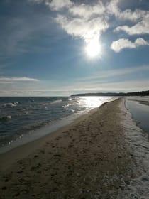 ....der Strand von Baabe im Winter