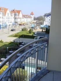 Blick vom Balkon Richtung Strand