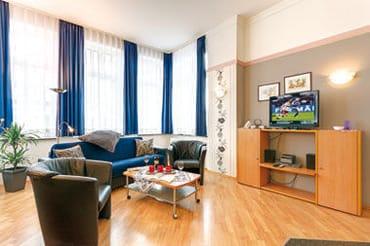 Wohnzimmer  mit Schlafcouch 2 Personen