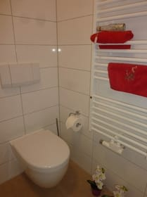 Das WC im Duschbad