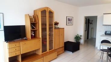 Wohn-/Schlafzimmer mit Blick zur Eingangsdiele