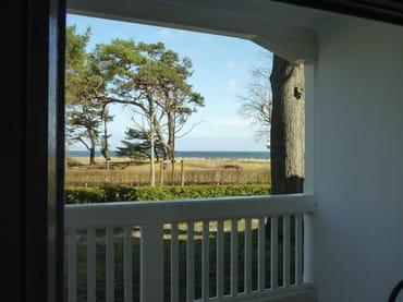 Balkon mit schönem Blick auf die Ostsee