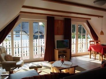 Blick zum Balkon