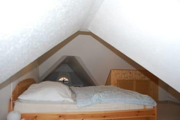 Blick vom Sitzbereich zum Schlafbereich