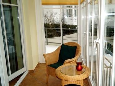 Süd-West Glas-Veranda / Wintergarten mit anschließender Terasse