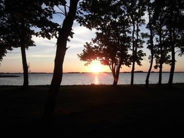 Sonnenuntergang am Wieker Bodden