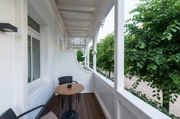 Balkon der Ferienwohnung 01