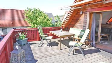 Große Terrasse mit tollem Ausblick