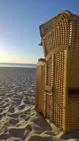 Strandkörbe am Dierhagener Strand zur Miete