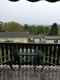 kleiner Balkon mit Boddenblick