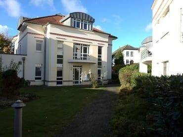 Hauseingang der Villa Beatrice