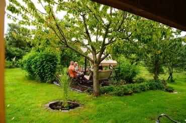 Sitzplatz im Naschgarten