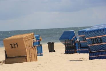 Strandkörbe am Strand von Karlshagen