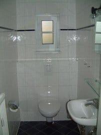 Separates WC neben den Schlafräumen