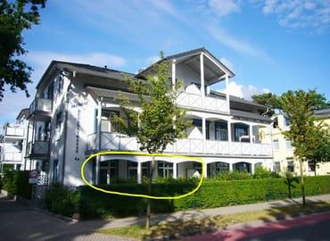 Herzlich willkommen in der Residenz Dünenstraße! Gelb eingekreist ist Ihr Balkon.