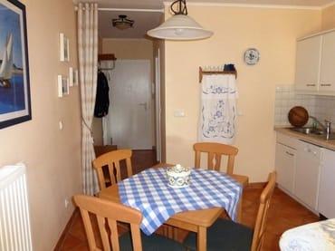 Sitzecke in unmittelbarer Nähe der Küche