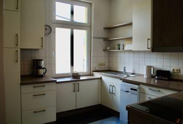 Blick in die 2018 neu eingebaute Küche.