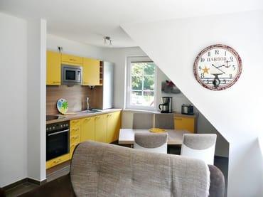 Küche und Essbereich im Obergeschoss