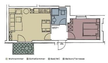 - Grundriss des Appartements -