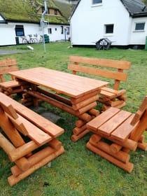Fewo über 2 Etagen mit Gartennutzung und Sitzecke