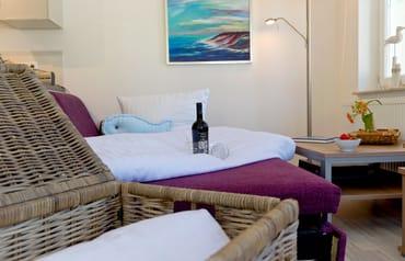 Die hochwertige Schlafcouch bietet Ihnen jeglichen Komfort um entspannt und erholt in den nächsten Urlaubstag zu starten.